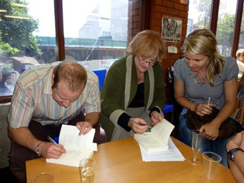 Signing copies of 'f2m: the boy within' at the launch