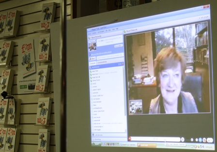 Hazel Edwards on Skype from Melbourne, Australia